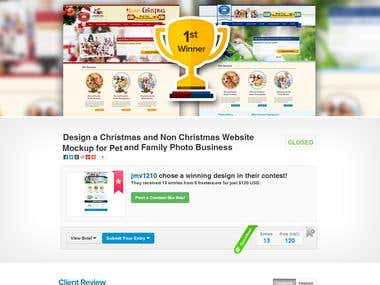 Design a Christmas and Non Christmas Website Mockup for Pet