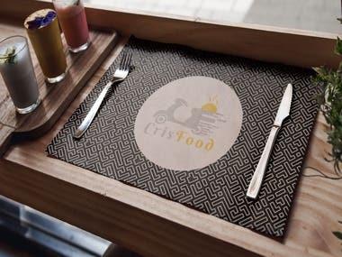 Crisfood Food Order & Delivery : Logo design