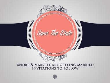 """Wedding """"Save The Date"""" Designs"""