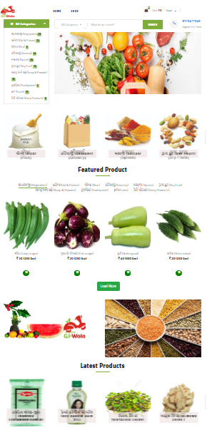 E Commerce website for selling Grocery Item (gjwala.com)