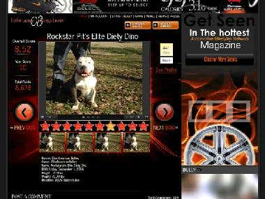 Online Dog Show Contest Site & Social Network