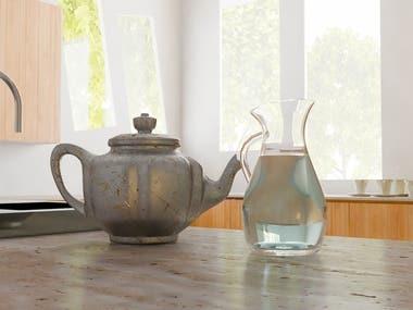 Kitchen Design in Realistic 3D