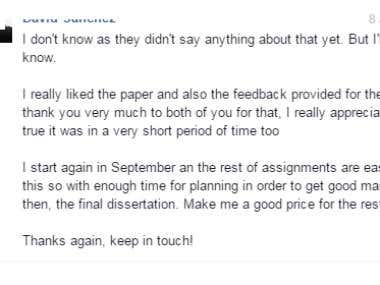 Client Satisfaction screen shots