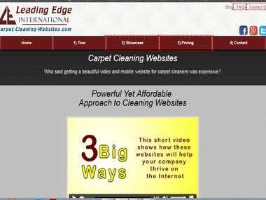 First Page rankings for http://carpet-cleaning-websites.com/