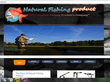 Fishing Product Site
