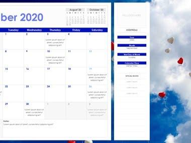 Macro Enabled Calendar Template