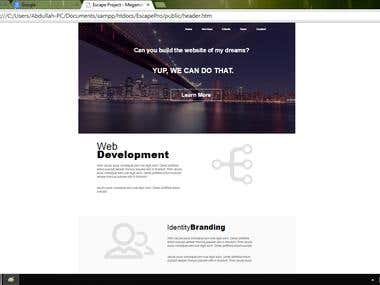 Photoshop Design To HTML Conversion Using Bootstrap.