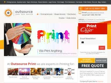 WordPress based Responsive website [outsourceprint.com.au]