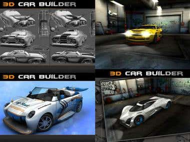 3D Car Builder(iPhone/Android)