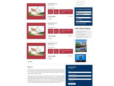 Graphics Design of a USA property website