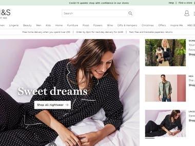 eshop web site in UK
