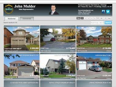 www.mulderland.ca (Real Estate website by IDx)