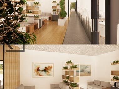 office plan and interior design