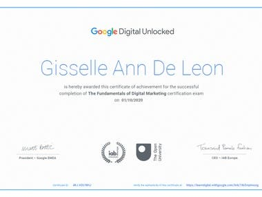 Certified Google Digital Marketing Course Completed and Pass