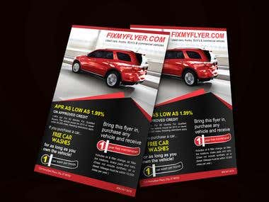 Flyer for Local Car Dealership.