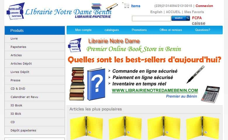 Librairie Notra Dame Benin e-Commerce and Inventory System