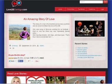 Love stories website :  http://www.love2bcontigo.com