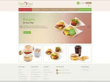 Click Order Food - codeigniter