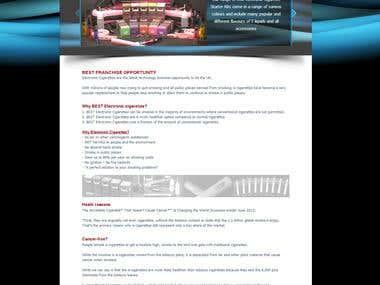 Best E-Cigg Franchise HTML Website