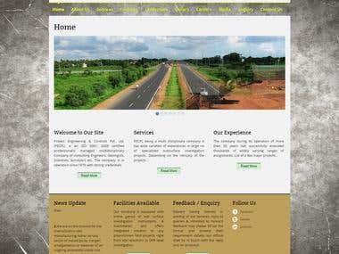 Wordpress Website Development PECPL Land Survey company