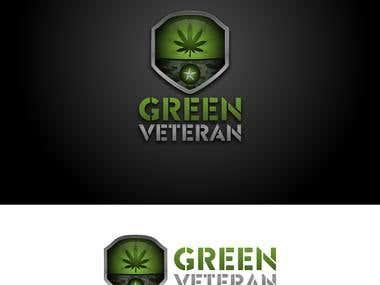 Logo for green veteran