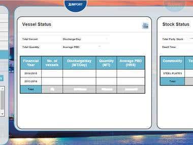 Vessel Cargo Status Web Application (.Net)