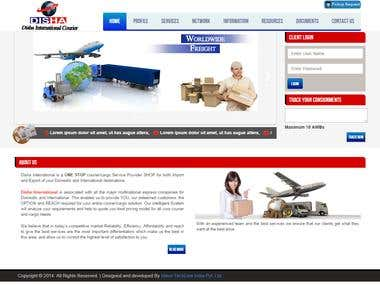 Website for an courier service