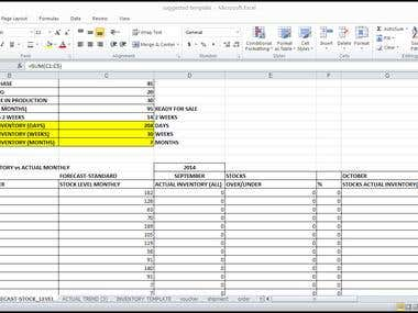 Make an Inventory Forecast Template_designelement
