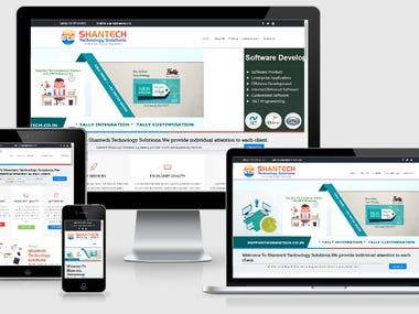 shantech (Software Company Website)