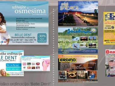Commercials in Magazines / Printed Media