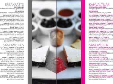 Restaurant work / menu design