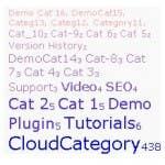 Fast Category Cloud WordPress Plugin