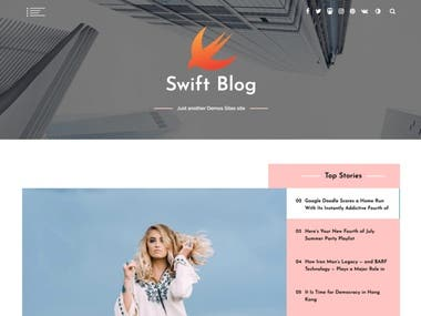 Blogging Site For our Customer !!