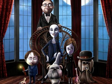 The Addams Family Poster Remake for Contest Entry.