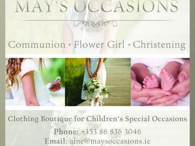 Flyer for Children's Special Occasion Clothing Boutique