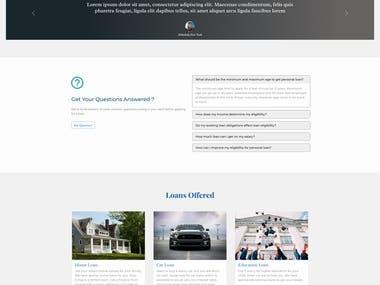 Landing Page for Finance Website