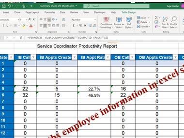 Add all months information in one sheet