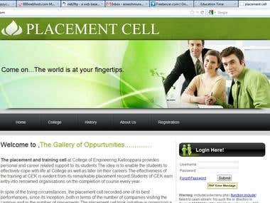 Placement cell website