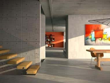 Modern Loft - Architecture Visualization