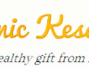 """Logo """"Organic Kesar Mangoes"""""""