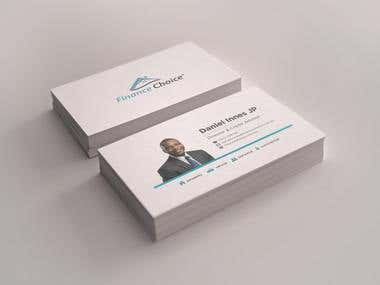 Business card design for Finance Choice
