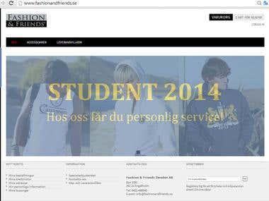 E commerce fashion Website