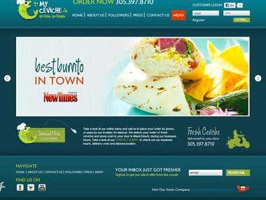 Food Ordering CMS Website using Zend Framework