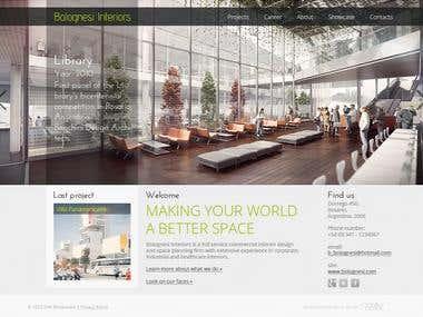 Commercial interior studio site