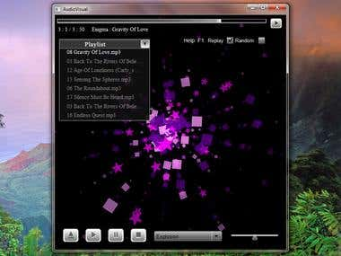 Music Player with visualisation