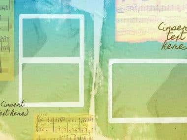 Album/Scrapbook Design (Music-Themed)