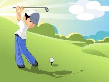 Golfer Illustration