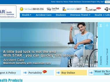 STAR HEALTH INSURANCE - WEBSITE WITH LIVE CHAT!