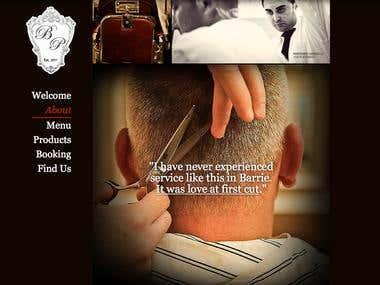 Single page website design for Barber Shop