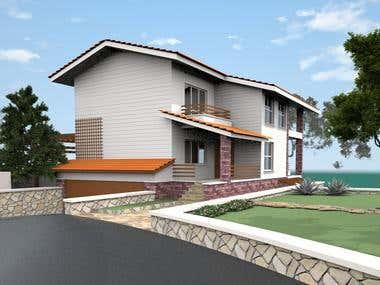 2-3 store villa